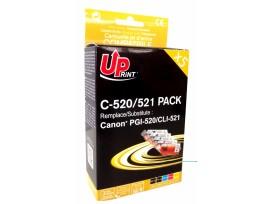 Комплект мастилници -CANON PGI-520 + CLI-521BK/C/M/Y XL