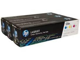 HP оригинална тонер касета CF341A/126A