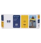 HP 81 680-ml Yellow Dye Ink Cartridge