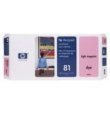 HP 81 Light Magenta Dye Printhead and Printhead Cleaner
