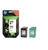 HP 338/343 Combo-pack Inkjet Print Cartridges