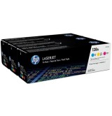 HP 128A CYM Tri-Pack LaserJet Toner Cartridge