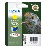 Epson T0794 Yellow Ink Cartridge - Retail Pack (untagged) for Stylus Photo 1400, Epson Stylus Photo P50