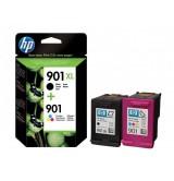HP 901XL High Yield Black/901 Tri-color 2-pack Original Ink Cartridges