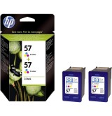 HP 57 2-pack Tri-color Inkjet Print Cartridges
