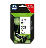 HP 302 2-pack Black/Tri-color Original Ink Cartridges