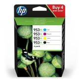 HP 953XL High Yield C/M/Y/K Original Ink Cartridge, 4-pack