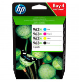 HP 963XL High Yield C/M/Y/K Original Ink Cartridge 4-Pack