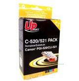 Мастилница UPRINT комплект CANON PGI-520 + CLI-521BK/C/M/Y XL