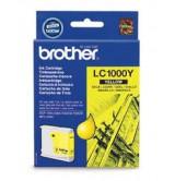 Brother Оригинална  Касета за мастилоструйни устройства LC1000Y