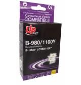Brother Съвместима факс касета LC980/1100 Y