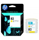 HP - Оригинална мастилница HP CH568A No82, Yellow